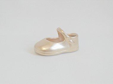 Sapatinho Dourado em Porcelana