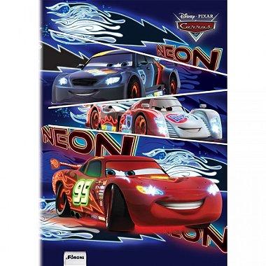 Caderno Brochura Grande - Carros Disney - 96 Folhas - Foroni