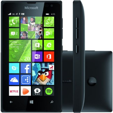 Smartphone Microsoft Lumia 435 Dual Chip Desbloqueado Windows Phone 8.1 Tela 4 ´ 8GB 3G Wi - Fi Câmera 2MP - Preto