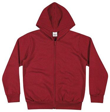 Blusão em moletom na cor vermelha - Elian