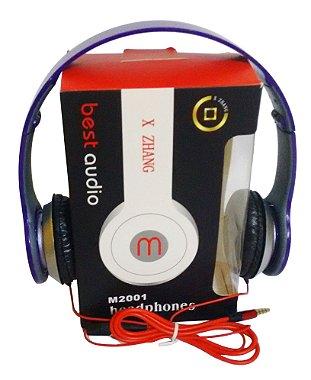 Fone De Ouvido Com Microfone M2001 Earphone Qualidade Sonora Violeta escuro