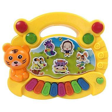 Piano Infantil Brinquedo Musical Com Animais Luzes E Música