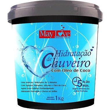 May Love Hidratação de Chuveiro com Óleo de Coco 1kg