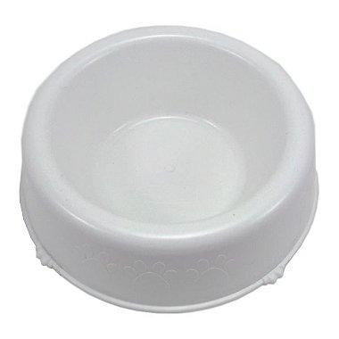 Bebedouro / Comedouro Patinhas Pet Injet Filhote 300mL Branco