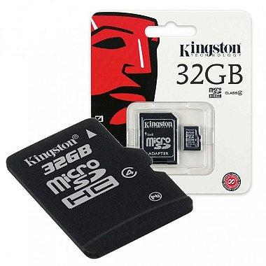 Cartão de Memória Original Kingston 32GB Classe 4