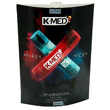Caixa do Kit K-med Fire Ice Gel Lubrificante