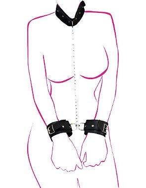 Demostração do Kit Coleira e Algemas Corrente BDSM