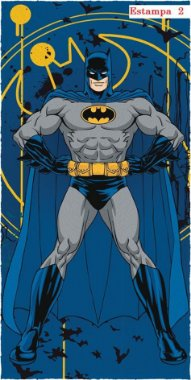 Toalha Felpuda De Banho Batman 60 Cm X 1,20 M Estampa 1