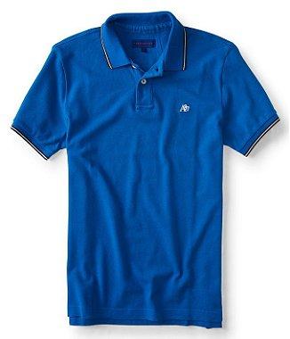 Camisa Polo Aeropostale A87 Azul