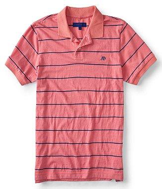 Camisa Polo Aeropostale A87 Listrada Rosa