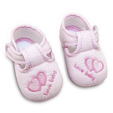 Sapatinho Love Baby Rosa 17