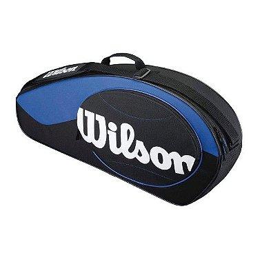 Bolsa Wilson ESP Match 3 Pack Preta e Azul