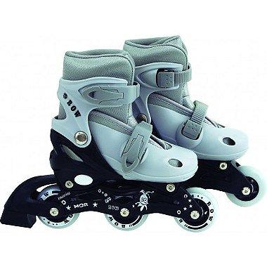 Patins Roller Infantil Cinza - P ( 31 - 34 ) - Mor Row