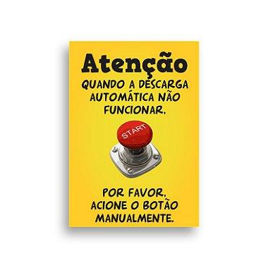 PLACA DECOR P / BANHEIRO ATENÇÃO