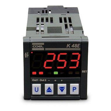 Controlador Digital de Temperatura K48E 100-240VCA TC-PT100-MV Coel