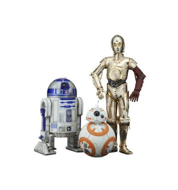R2 - D2 e C3PO, BB - 8 - ArtFX Statue - Kotobukiya - Star Wars