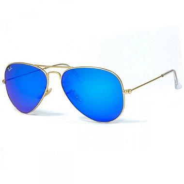 Óculos de Sol Ray - Ban® - RB3025 - 112 / 17 - Aviador Flash Lenses