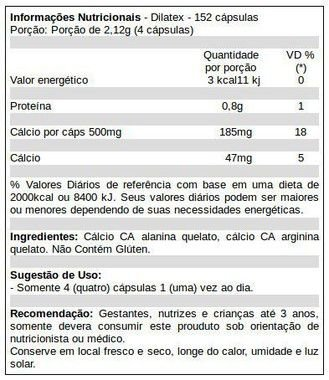 Tabela Nutricional Ditalex