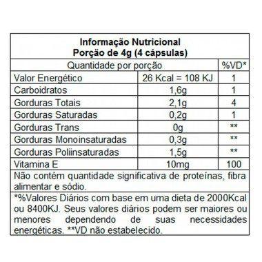 Tabela Nutricional Lipix Óleo de Cártamo Vitafor