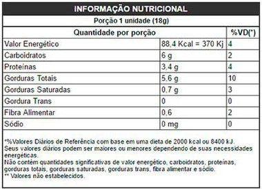 Tabela Nutricional Paçoca Zero Açúcar Powe1One