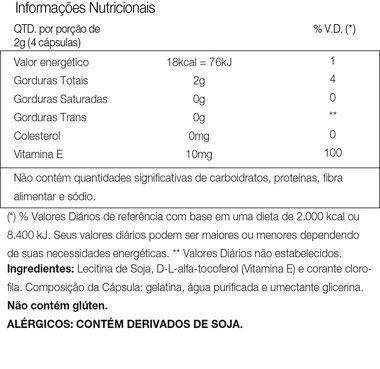 Tabela Nutricional PHOS Vitafor