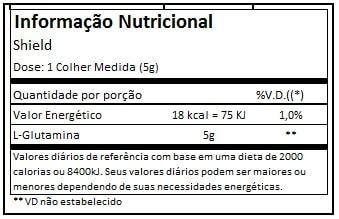 Tabela Nutricional Shield Black Skull