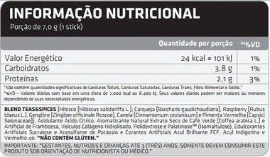 Tabela Nutricional X-Tea Atlhetica Nutrition