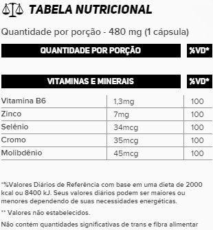 Tabela Nutricional Zma Cromo New Millen
