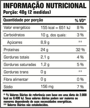 Tabela Nutricional Hiper Whey