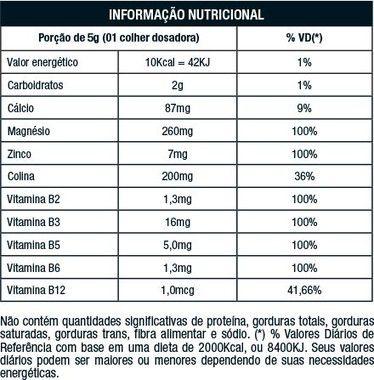 Tabela Nutricional Noise Antiox Nutrata