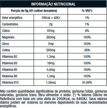 Tabela Nutricional Noise Pré Pump Nutrata
