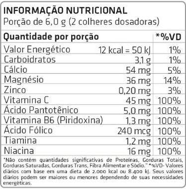 Tabela Nutricional Activade HD Atlhetica Nutrition