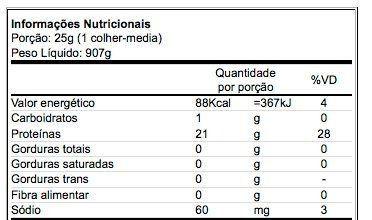 Tabela Nutricional Ultra Iso Whey Universal Nutrition