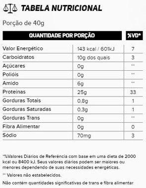 Tabela Nutricional Whey Premium New Millen