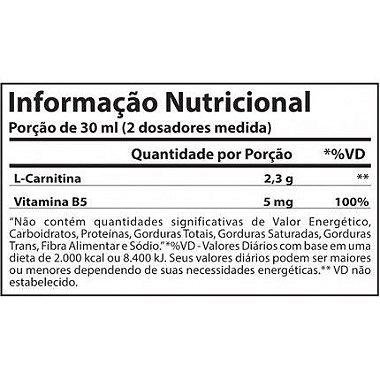 Tabela Nutricional L-Carnitina 2300 Atlhetica Nutrition