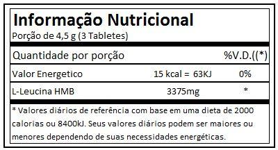 Tabela Nutricional HMB Black Skull