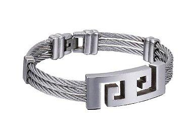 Pulseira de cabos de aço inoxidável
