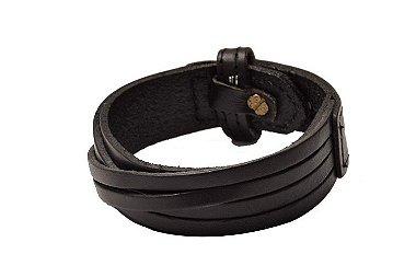 Bracelete de couro legítimo trançado