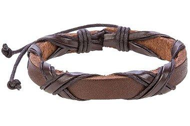 Pulseira em couro legítimo e sintético, pulseira masculina em couro