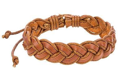 Pulseira em couro legítimo trançado, pulseira em couro legítimo, pulseira masculina