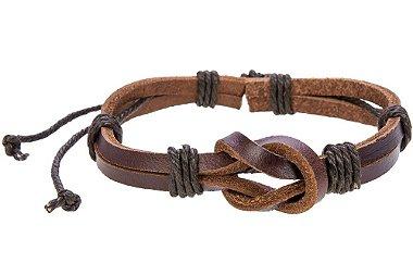 Pulseira masculina de couro, pulseira de couro legítimo