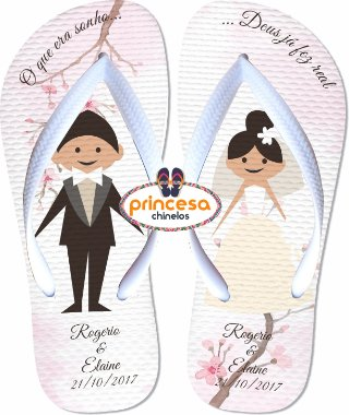 chinelos para casamento mais barato
