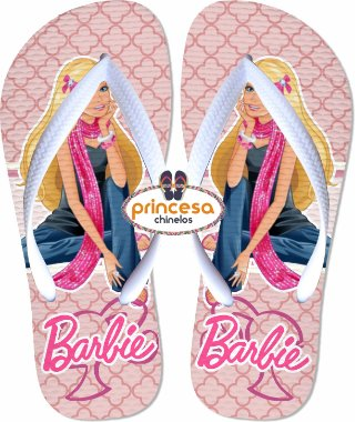 chinelo da barbie 2017