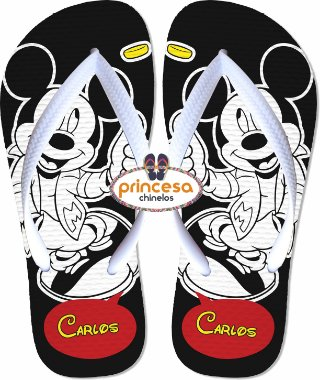 chinelo do mickey mouse