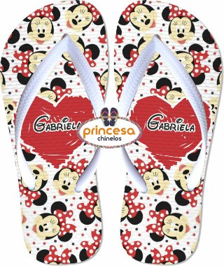 chinelo mickey e minnie melissa