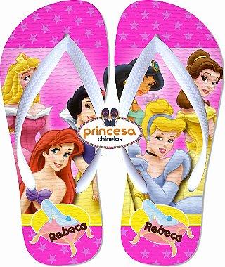 sandália princesas disney sonho encantado