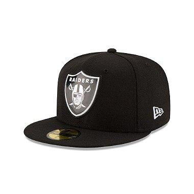 Boné Oakland Raiders Beveled Team 5950 Fechado - New Era 58.7cm = 7 3 / 8