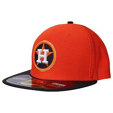 Boné Houston Astros 5950 Diamond Fechado - New Era 58.7cm = 7 3 / 8