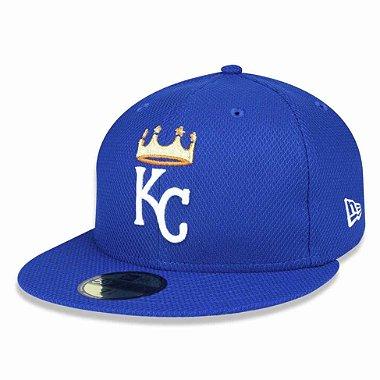 Boné Kansas City Royals 5950 Diamond Fechado - New Era 58.7cm = 7 3 / 8