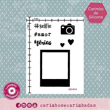 Kit Carimbo de Silicone 9x12 cm Coleção Selfie 7 itens